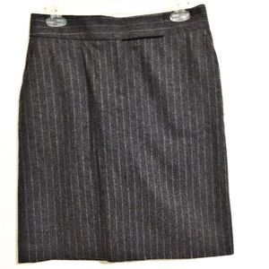 J. Crew Pencil Skirt Gray Striped Sz 2